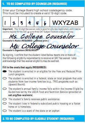 How you get an sat fee waiver complete guide advice for students using fee waivers altavistaventures Image collections