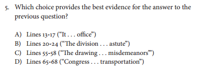 Sample Question Excerpt