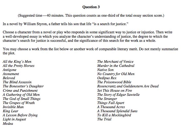 Ap English Literature Essay Examples - Writing Ideas