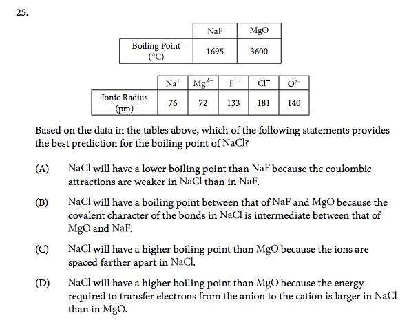 ap chemistry exam 2017 multiple choice
