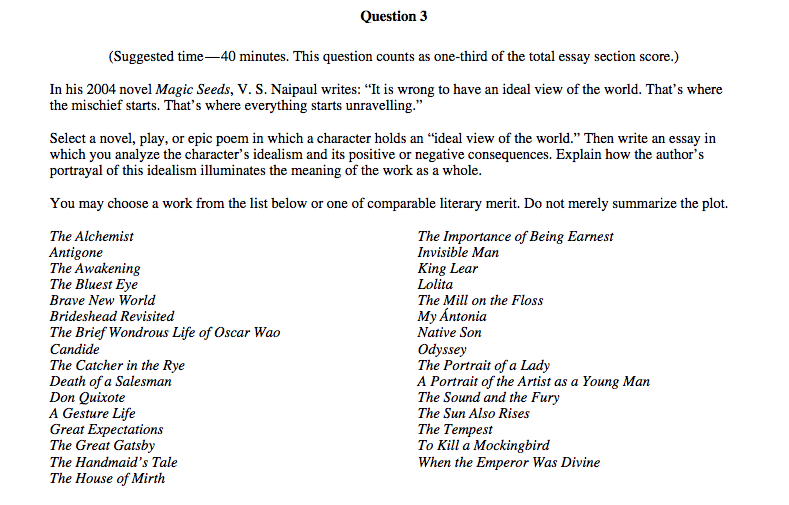 ap english literature and composition multiple choice answers 2014