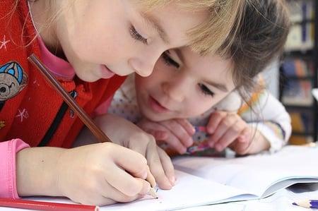 body-children-studying-writing
