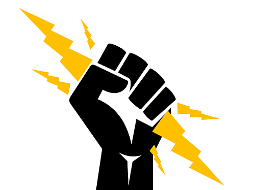 body-fist-holding-lightning