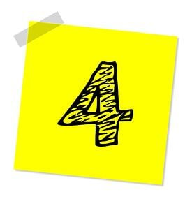 body-number-four-post-it-note