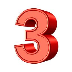 body-number-three-3
