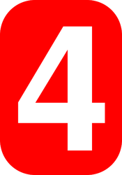 body-red-number-four-4