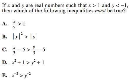 Inequalities On Act Math Strategies And Practice