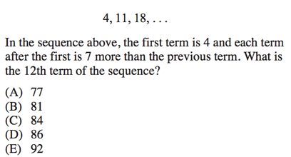 Sequences on SAT Math: Complete Strategy and Review