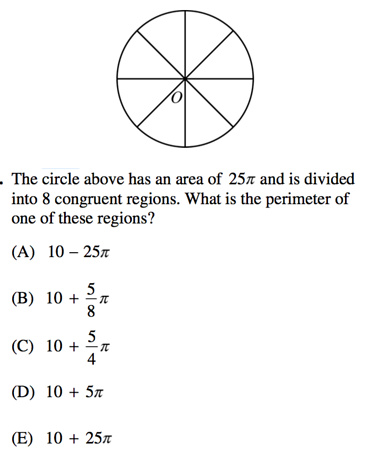 Circles On Sat Math Formulas Review And Practice