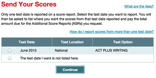 Can i send in my sat writing score with?