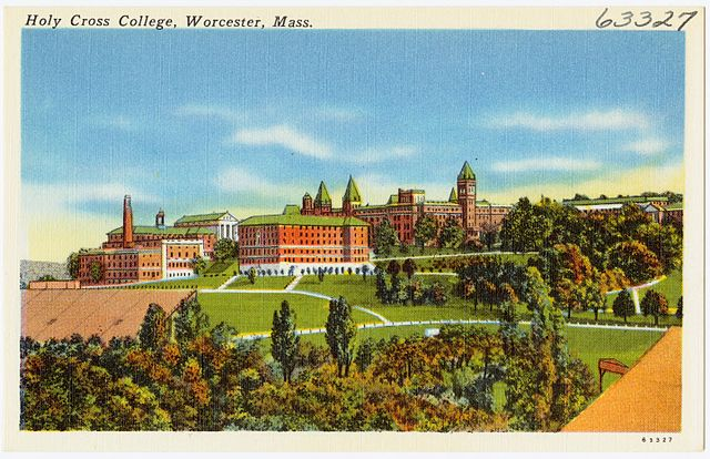 body_college_holy_cross_postcard