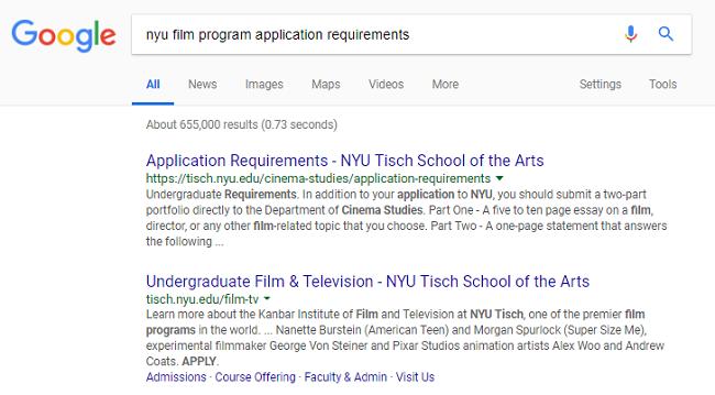 nyu college essay requirements