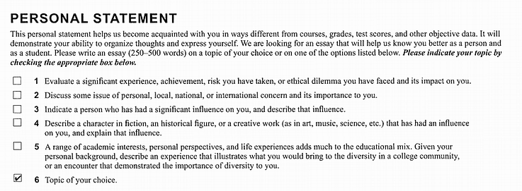 Stanford Supplement Essay / Short Answer Prompts?