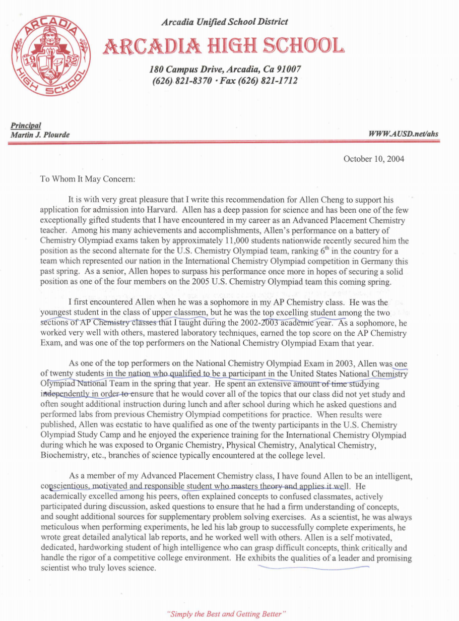Letter Of Recommendation Examples These 2 Recommendation Letters Got Me Into Harvard And The Ivy League