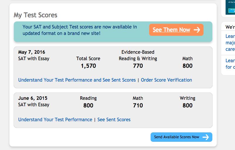 sat essay scores average