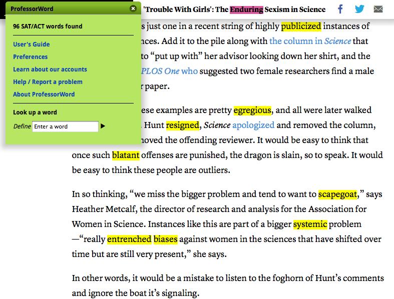 Vocab for sat essay prompt