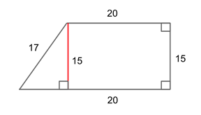 how to find the missing side length of a trapezoid