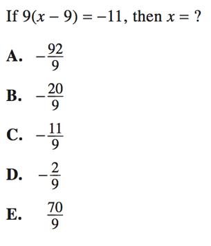 Single Variable Equations in Algebra: ACT Math Strategies