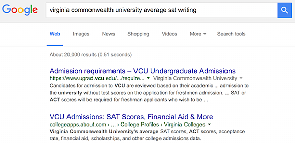 what virginia colleges require sat essay