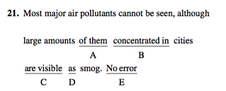 can you use old practice sats to study for the new sat  sentence error png