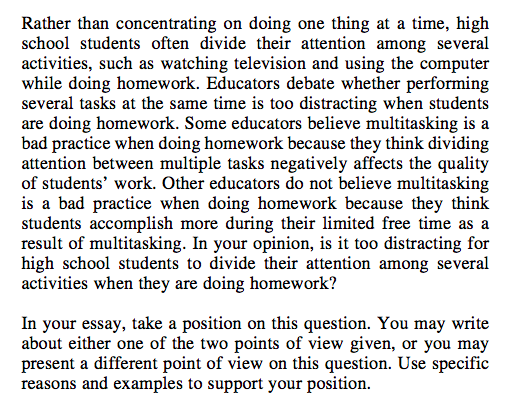 Act essay prompts