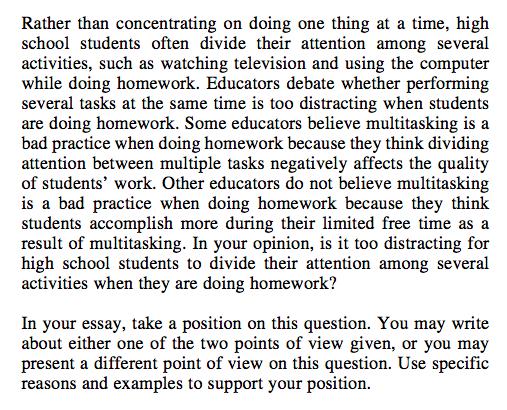 act essay practice prompts