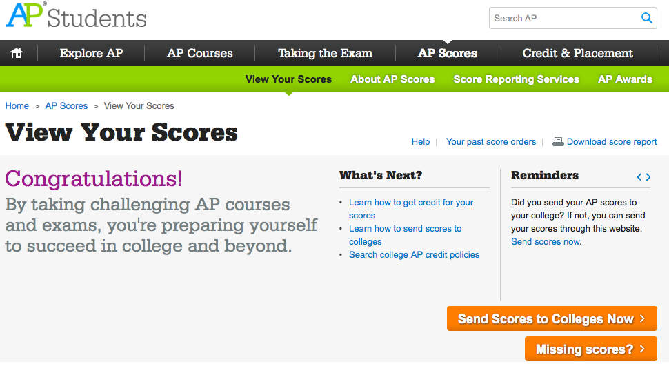 How to Send AP Scores to Colleges