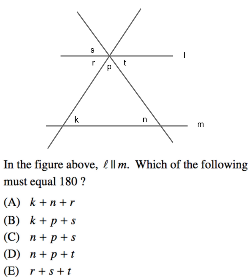 worksheet Parallel Intersecting And Perpendicular Lines Worksheet lines and angles in sat math prep review body 2 1 png