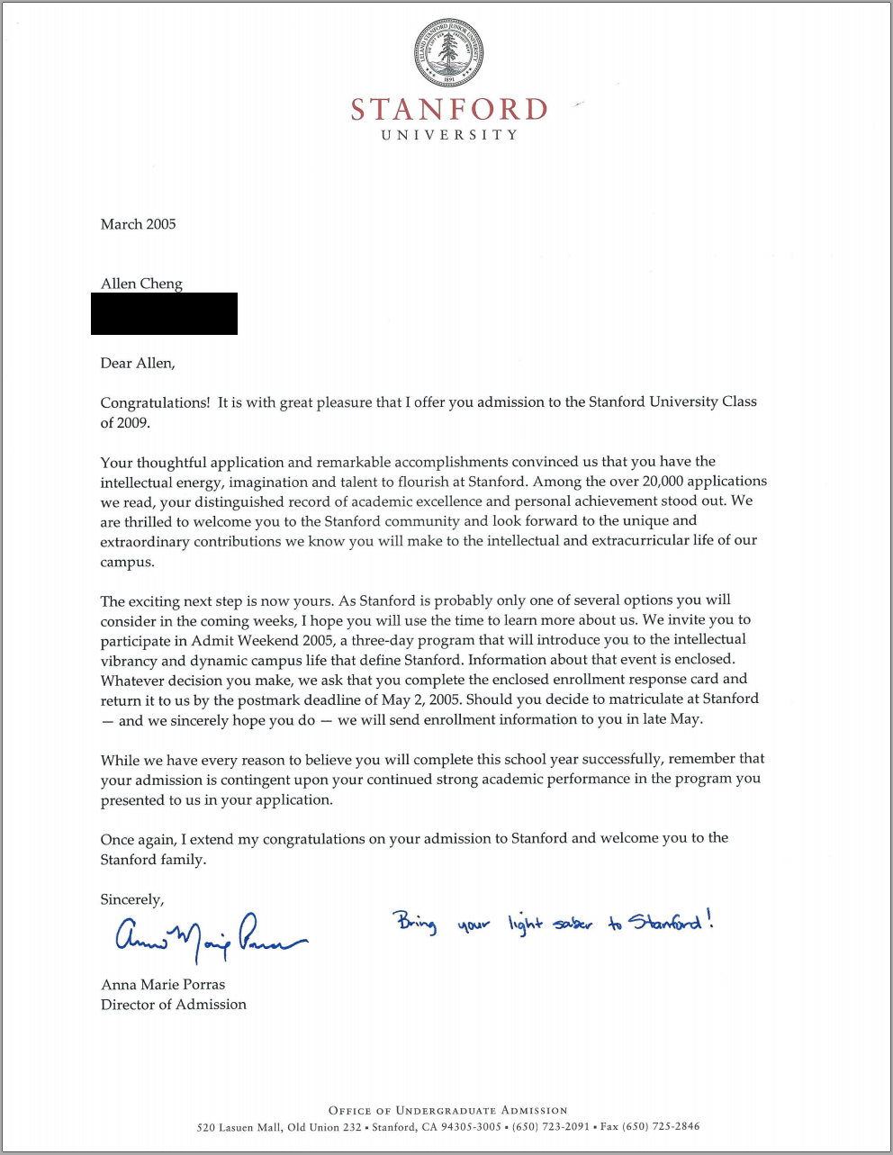 Stanford acceptance letter real and official spiritdancerdesigns