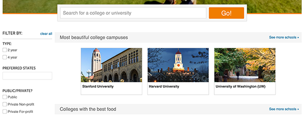 What do colleges look at the most?